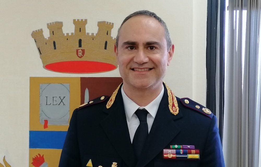 Antonio Magno alla guida dell'Ufficio Prevenzione Generale e Soccorso Pubblico della questura di Frosinone