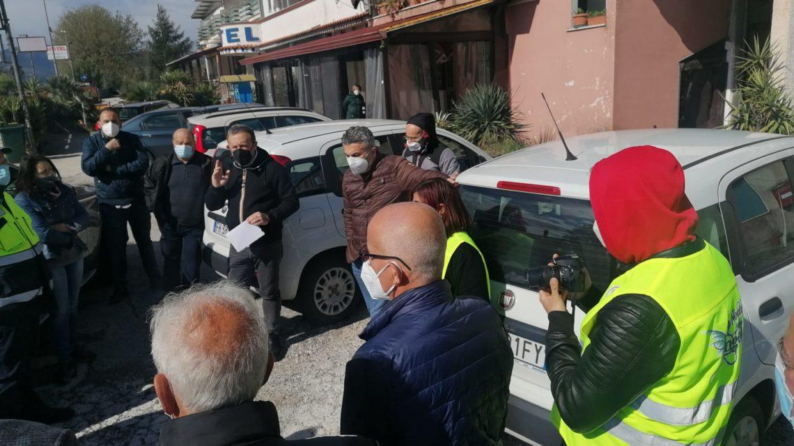 Sopralluogo per messa in sicurezza via Valle del Garigliano tra Rocca d'Evandro e San Vittore del Lazio
