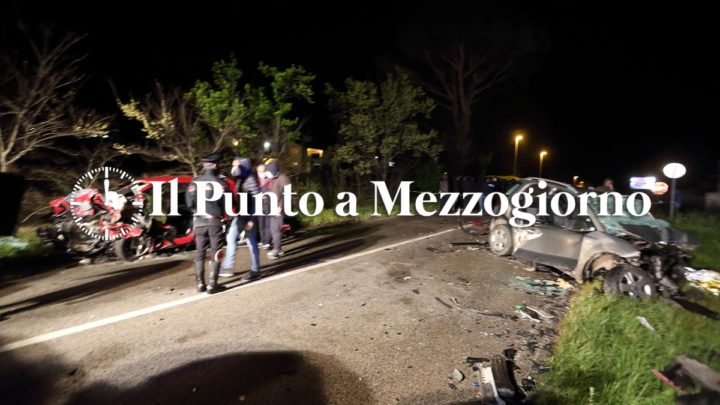 Tragedia di Pasqua sulla Casilina a San Vittore. Quattro morti per incidente stradale