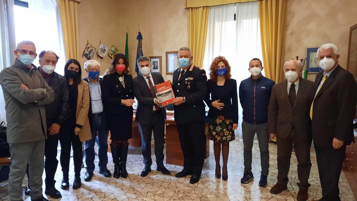 Il luogotenente Raucci al comando del Nucleo Informativo dei carabinieri di Frosinone, il saluto dell'amministrazione comunale di Cassino