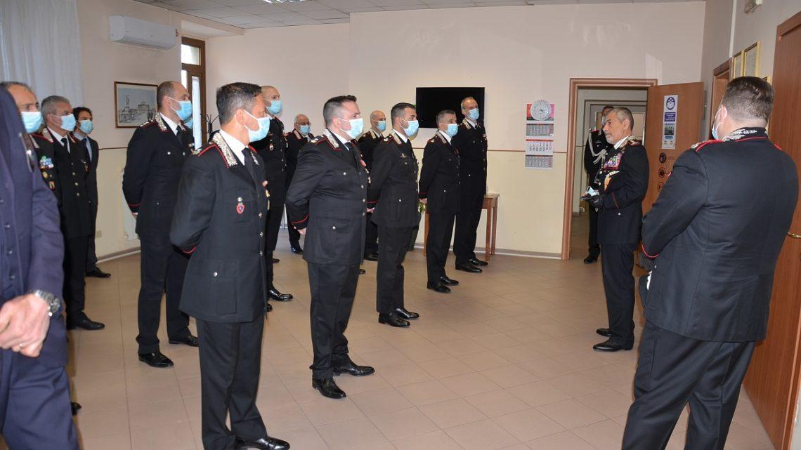 Il Generale di Corpo d'Armata Burgio visita il Comando Provinciale Carabinieri di Frosinone