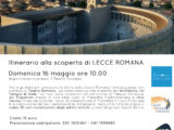 Turismo in Puglia. Tornano le visite guidate alla Lecce romana con The Monuments People