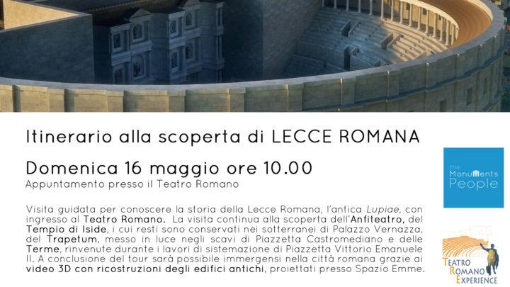 Turismo in Puglia. Tornano le visite guidate alla Lecce romana con The Monuments People