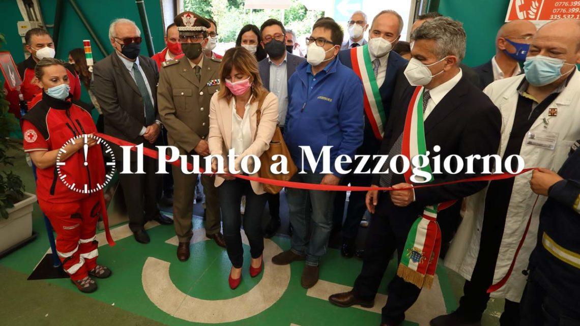 """Inaugurato l'hub vaccinale Stellantis di Piedimonte, D'Amato: """"Da domani mille somministrazioni al giorno"""""""