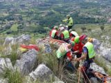 Cervaro – Esercitazione sul Monte Trocchio del Corpo Nazionale Soccorso Alpino e Speleologico