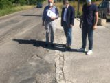 Sopralluogo per inizio lavori messa in sicurezza di Via dei Santi (ex S.P. 76)